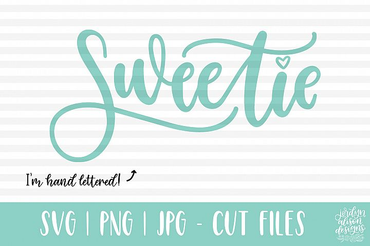 Sweetie, Hand Lettered SVG Cut File