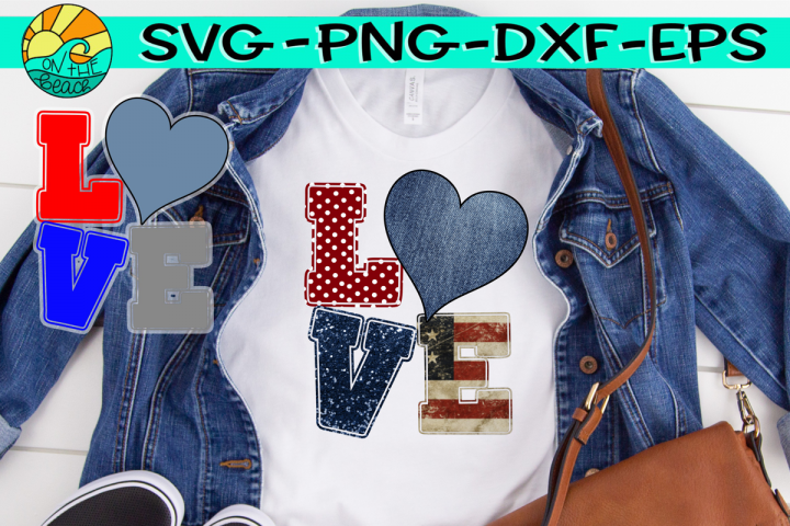 LOVE - Heart - Jeans - CUTTING FILE