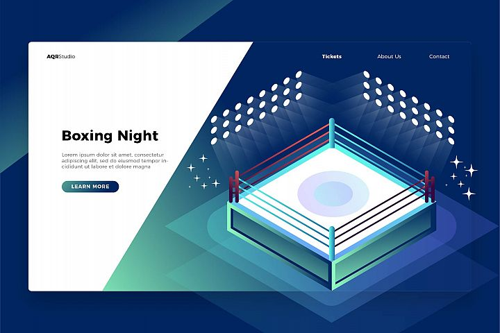 Boxing Night - Banner & Landing Page