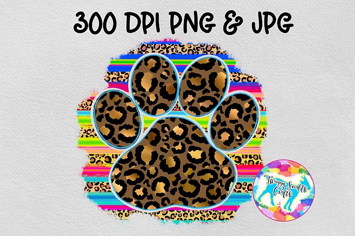 Serape leopard paw print - Sublimation Design Download