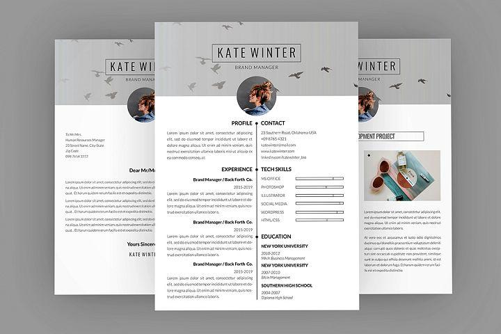 CV Kate Winter Resume Designer