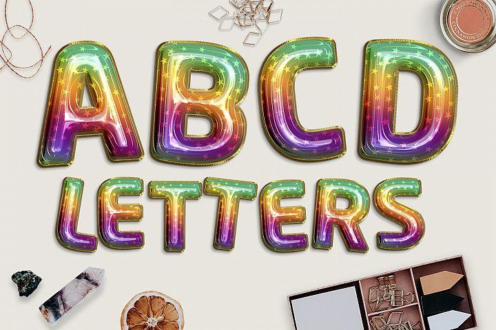 Rainbow Balloons Alphabet