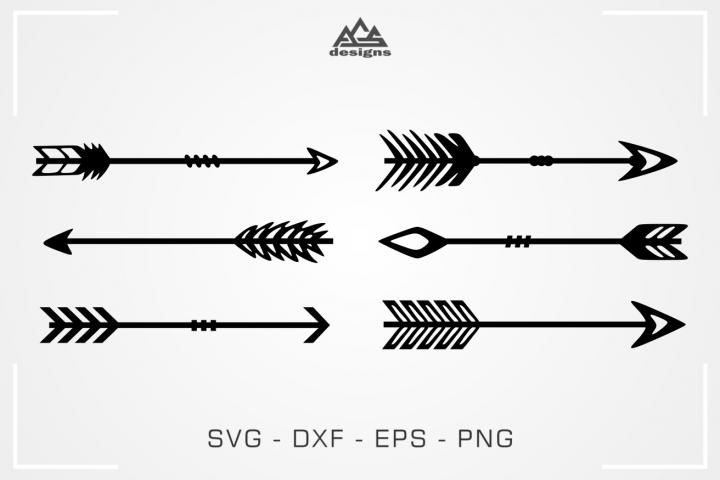 Arrows Bow Svg Design