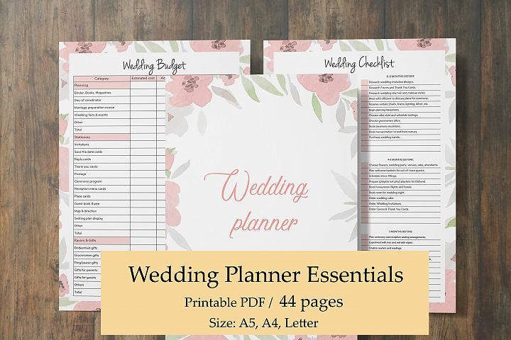 Wedding Planner Download, Pink Planner Inserts, Wedding Gift