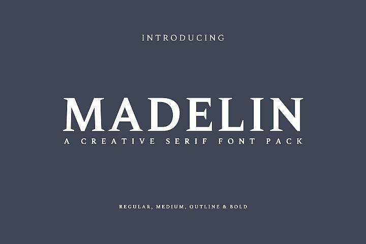 Madelin Serif Font Family Pack