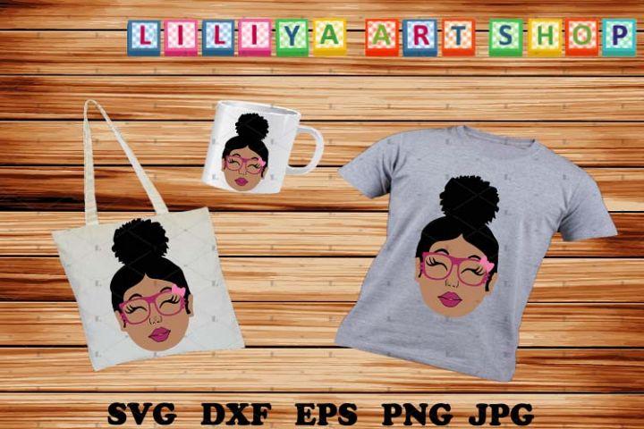 Afro Peeking Girl,Afro woman svg,Kids svg,Black history svg