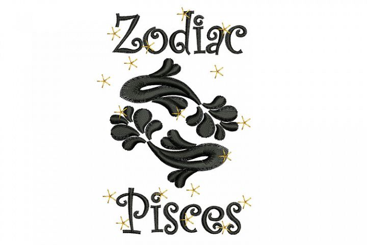 Pisces machine embroidery designs
