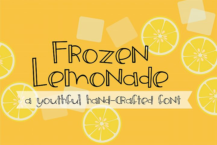 ZP Frozen Lemonade - Free Font of The Week
