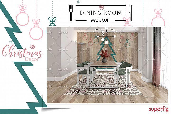 Dining Room PSD Mockup WALL&FLOOR SM108