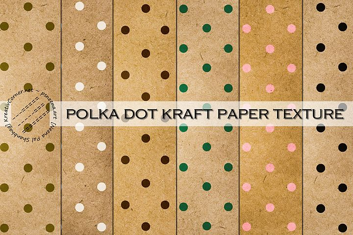 Polka Dot Kraft Papers