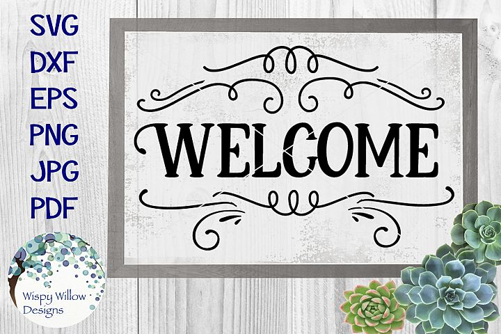 Welcome | Welcome Sign | Welcome Mat SVG Cut File