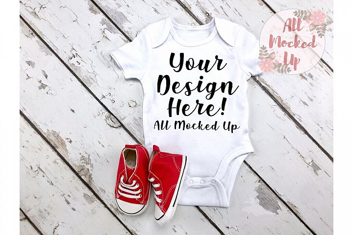 ARB Blanks Baby Bodysuit Sublimation Shirt Mock Up 7/19