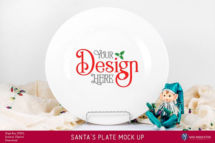 Christmas Mock up - Santas Plate, Cookies for Santa