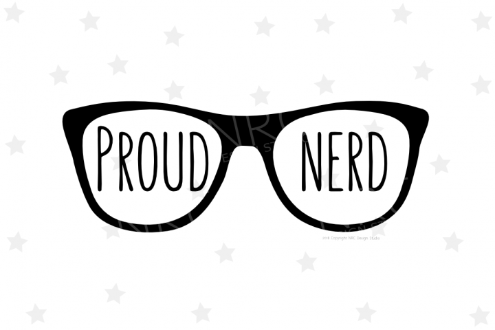 Proud Nerd SVG File
