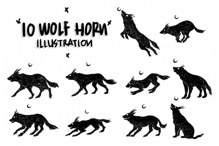 Wolf horn Illustration