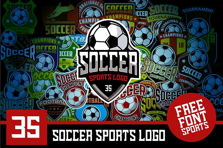 Set 35 Football Soccer Logo Emblem Template