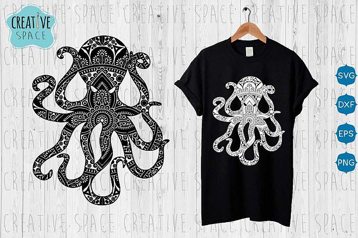 Mandala Octopus svg, Octopus svg,