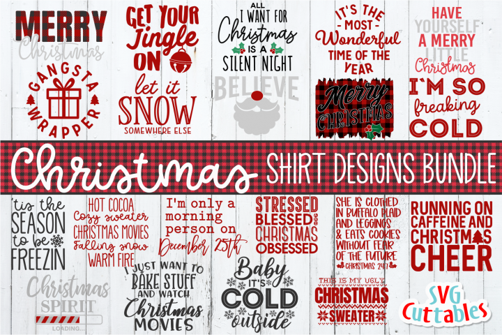 Christmas Shirt Designs Bundle | SVG Cut File