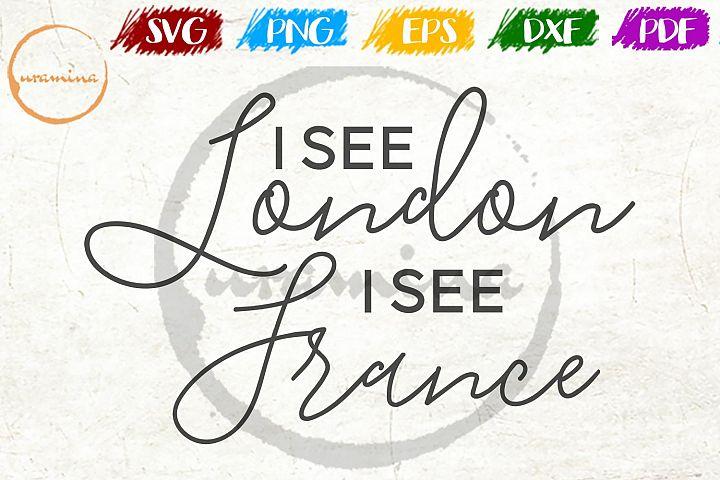 I See London I See France Bathroom SVG PDF PNG