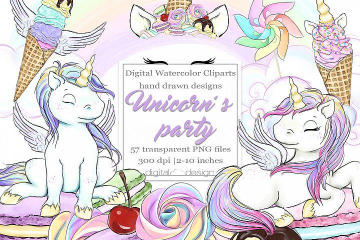 Unicorns party - Clipart