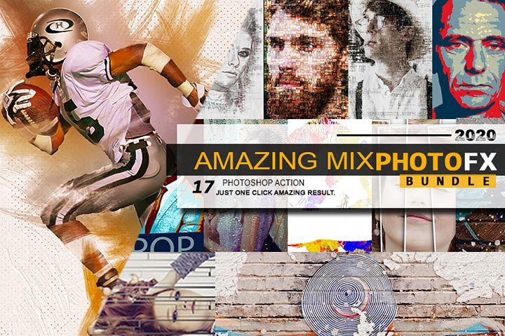 Amazing Mix Photofx Bundle Photoshop Action