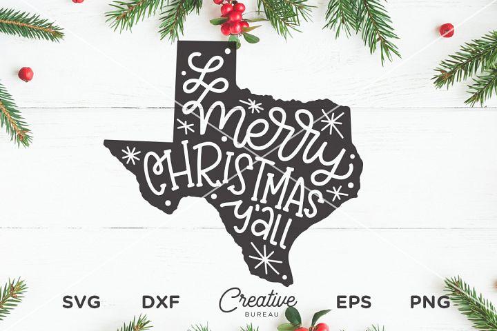 Texas Christmas SVG, Merry Christmas YAll Svg