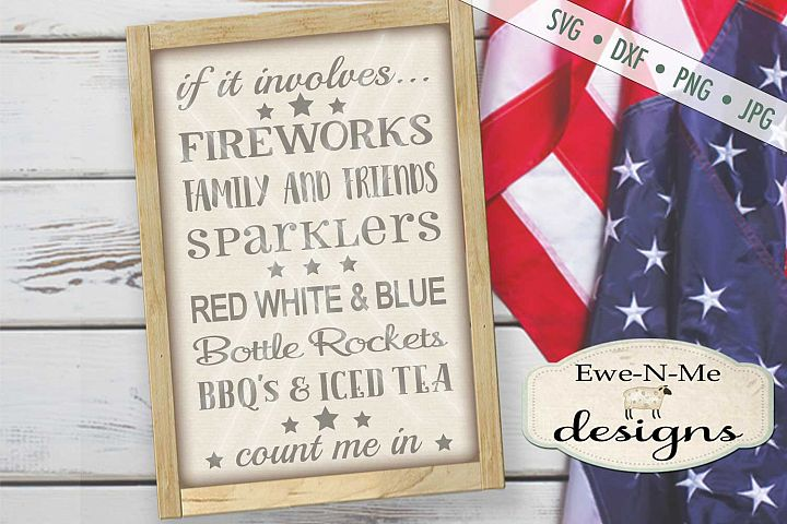 Fireworks Family Friends SVG DXF Files