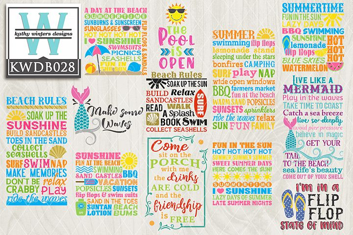 Summer SVG - Summer Bundle KWDB028