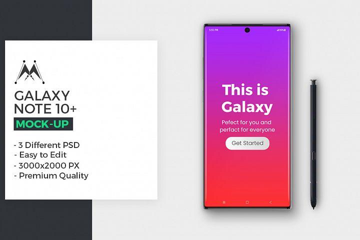 Galaxy Note 10 Mockup