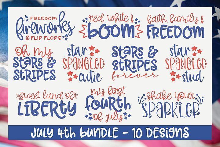 July 4th SVG Bundle - 10 Designs