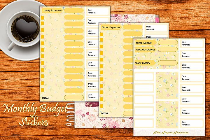 Planner Stickers for Budgets and expenses