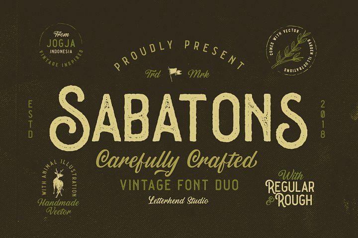 Sabatons - Vintage Font Duo