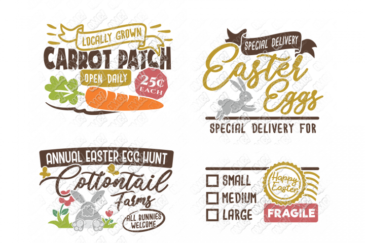 Easter Sign SVG Carrot Patch in SVG, DXF, PNG, EPS, JPEG