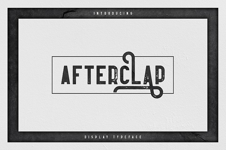 Afterclap typeface - 3 styles