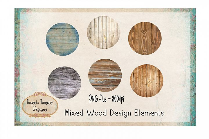 Mixed Wood Design Element Set