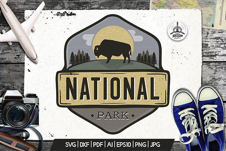 Park Logo Vintage Adventure Badge Camp Patch SVG Sticker
