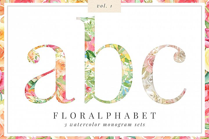 Floralphabet Monograms Vol 1