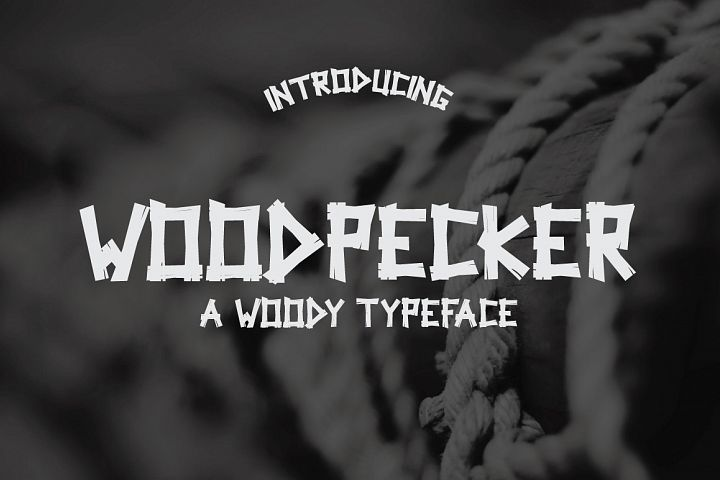 Woodpecker Typeface