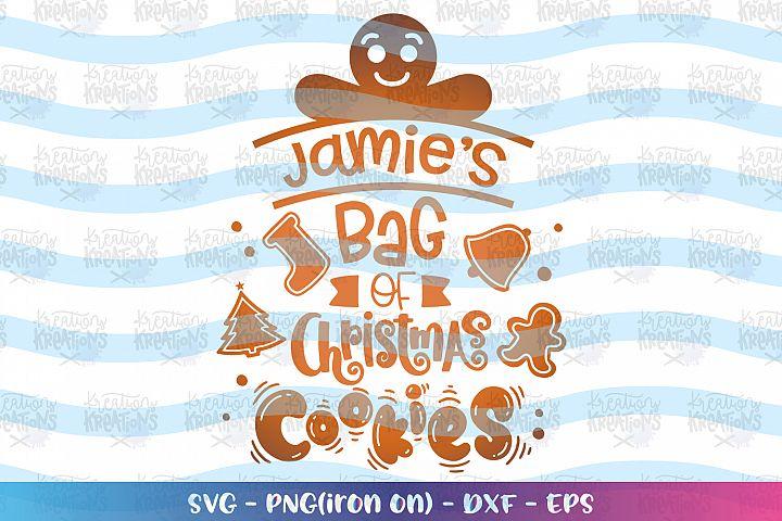Christmas svg Bag of Christmas Cookies svg Name Tag