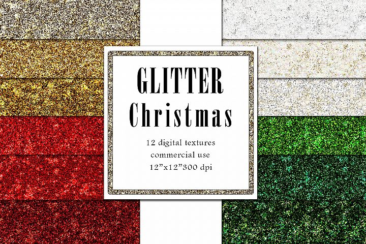 Glitter Christmas Textures, Sparkle Background