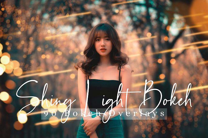 90 Shiny Light Overlays Bokeh Effect Photo Overlays