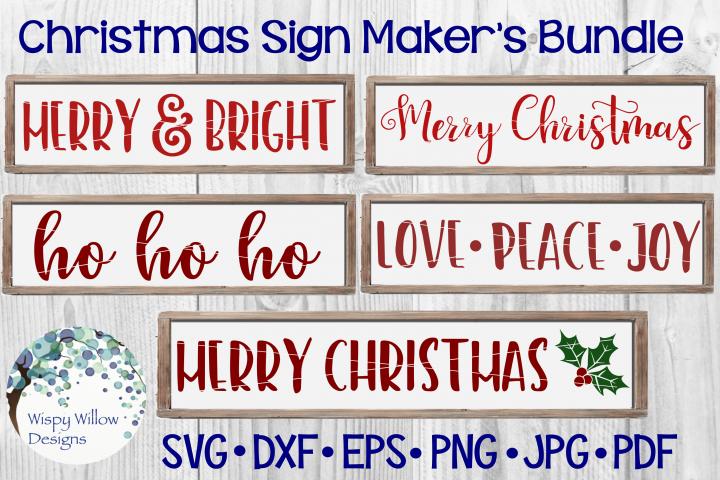 Christmas Sign Makers Bundle