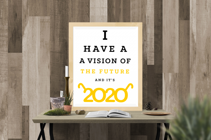 2020 Vision New Year SVG File