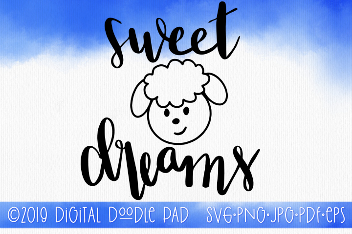 SVG Quote, Sweet Dreams