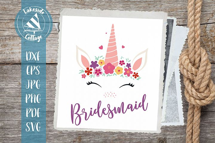 Unicorn Bridesmaid Wedding Bridal Party svg eps dxf png jpg