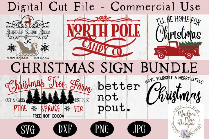 Christmas Sign Making Bundle, Christmas SVG Bundle