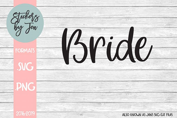 Bride SVG Cut File