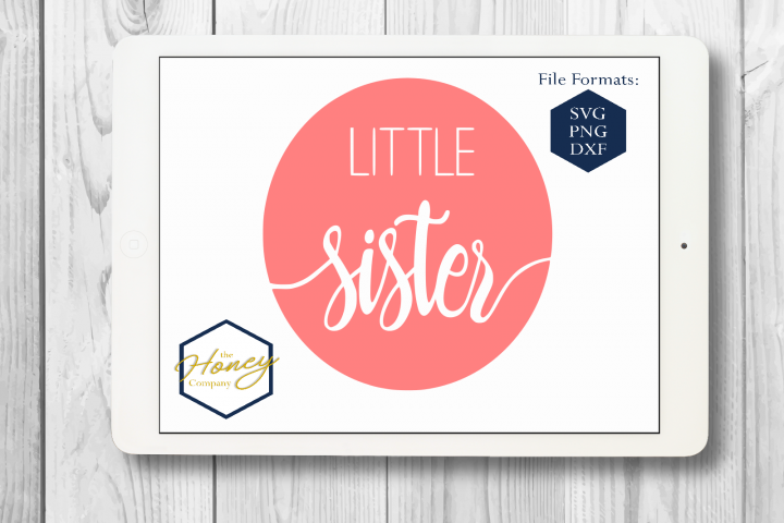 Little Sister SVG PNG DXF Cutting File Silhouette Cricut Fil