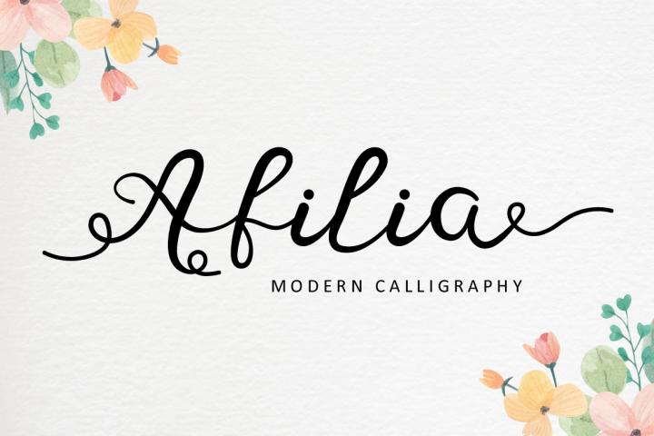 Afilia - Modern Calligraphy
