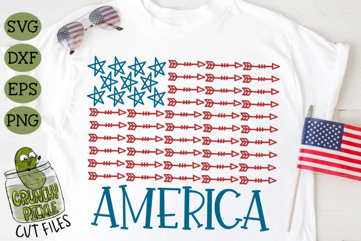America Stars & Arrows Flag 2 Patriotic SVG